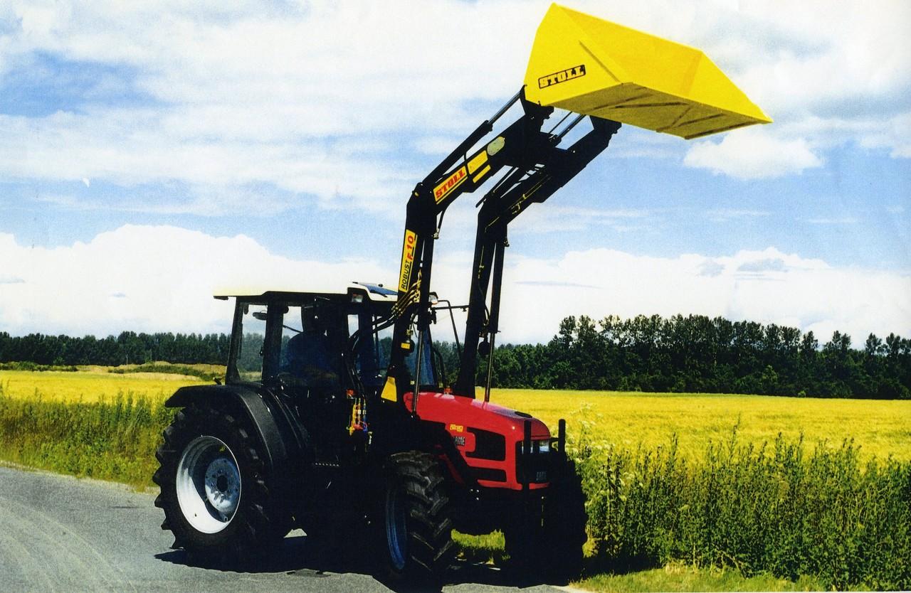 [SAME] trattore Dorado 70 al lavoro con pala