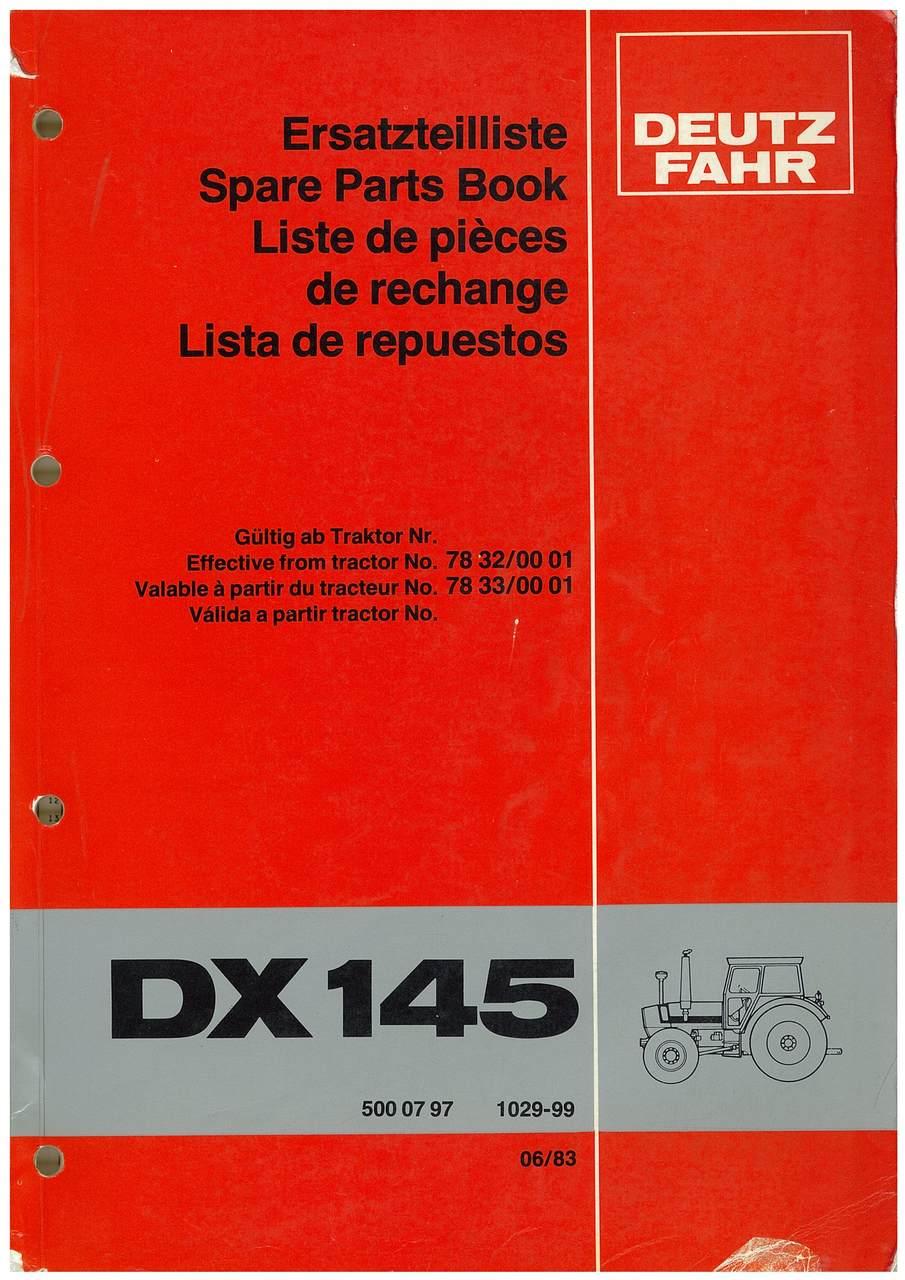 DX 145 - Ersatzteilliste / Spare Parts Book / Liste de pièces de rechange / Lista de repuestos