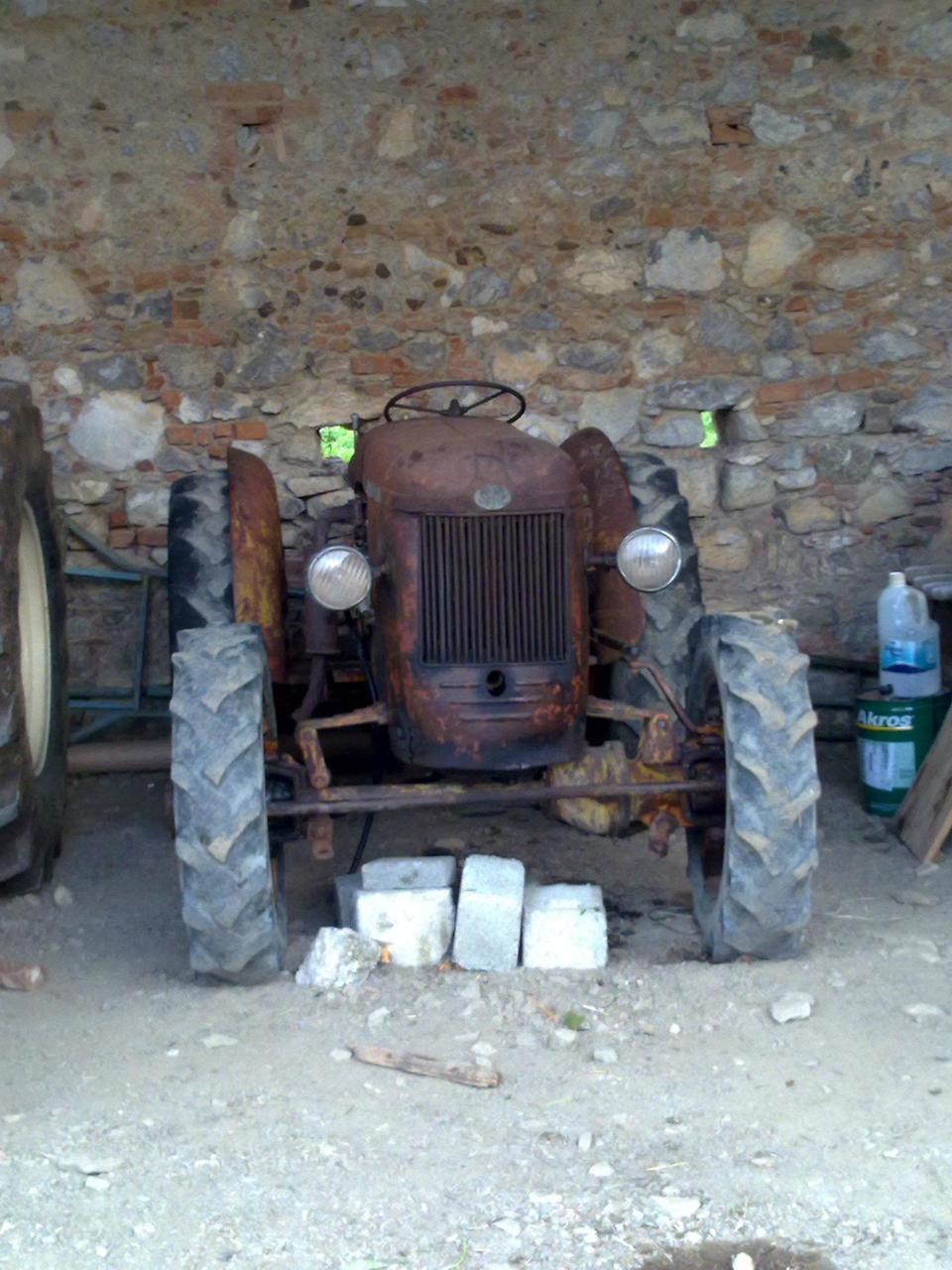 [SAME] trattore SAME DA 25 prima e dopo il restauro