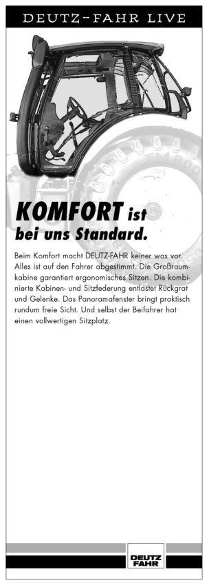 DEUTZ-FAHR LIVE, Komfort ist bei uns Standard.