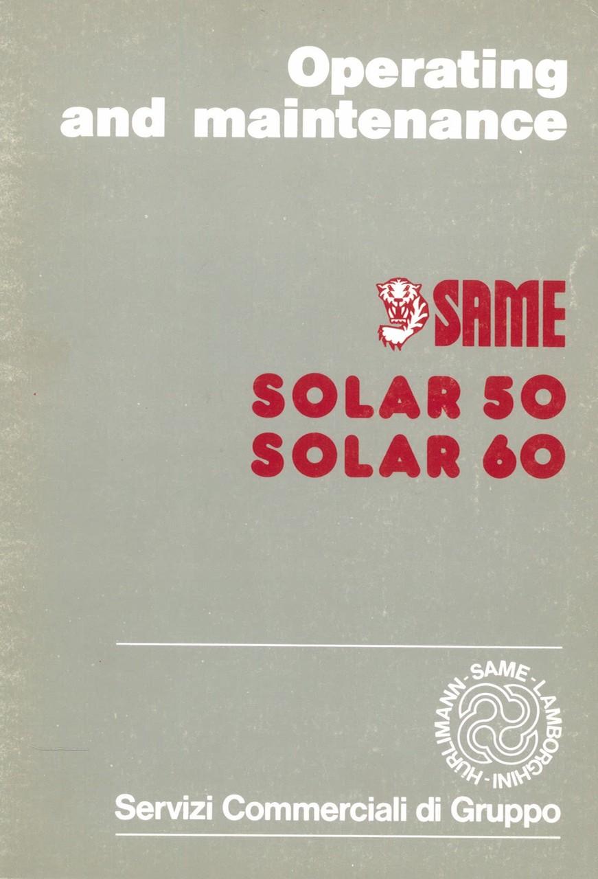 SOLAR 50 - 60 - Operating and maintenance
