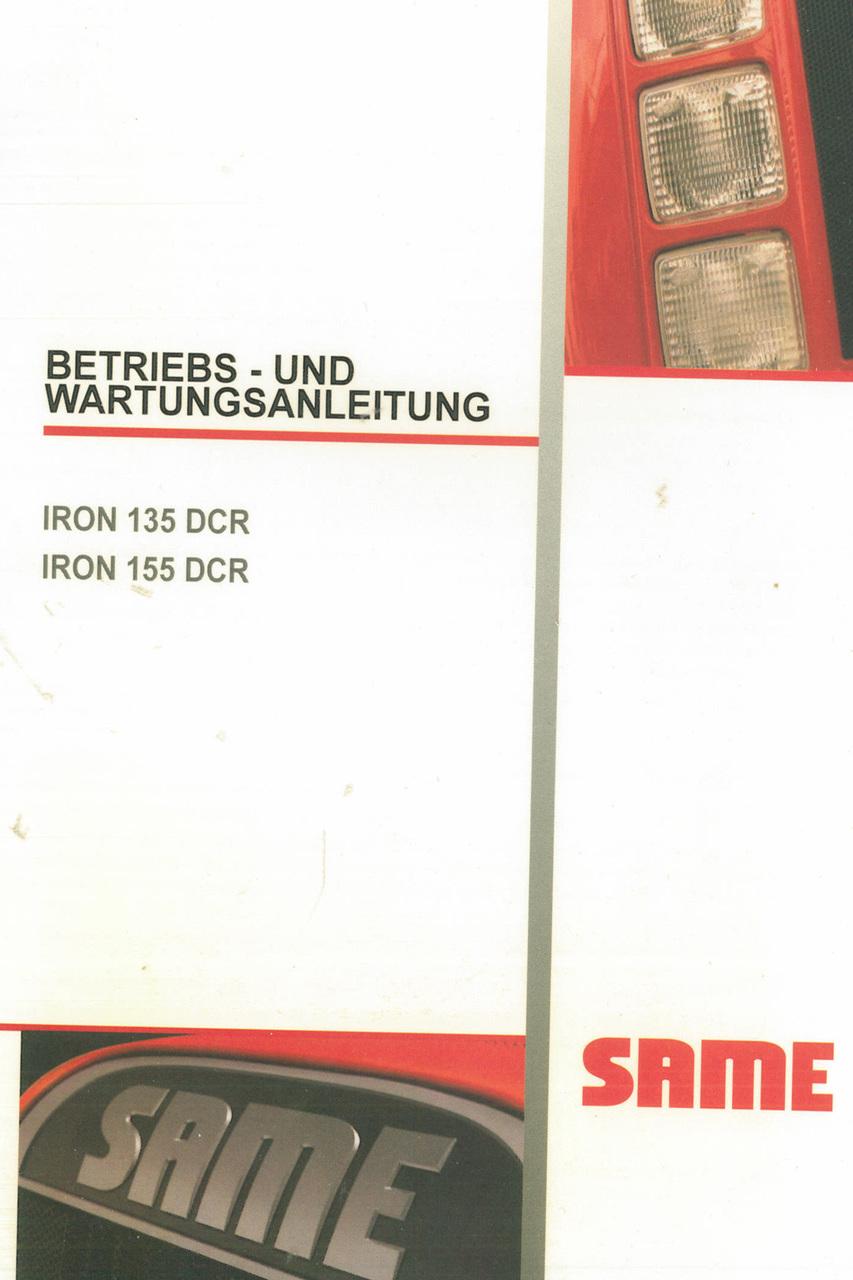 IRON 135 DCR - IRON 155 DCR - Betriebs - und Wartungsanleitung