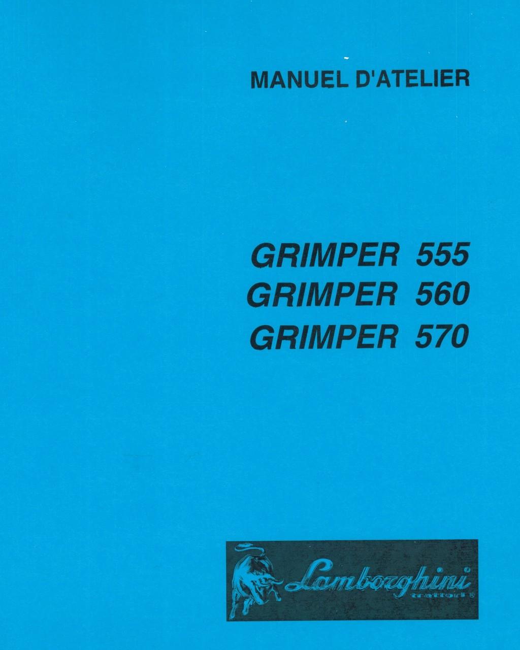 GRIMPER 555 - GRIMPER 560 - GRIMPER 570 - Manuel d'atelier