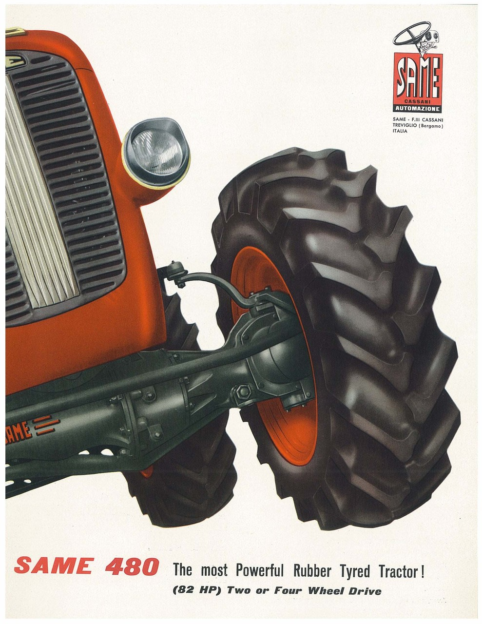 SAME 480 Thr most Powerful Rubber Tyred Tractor!