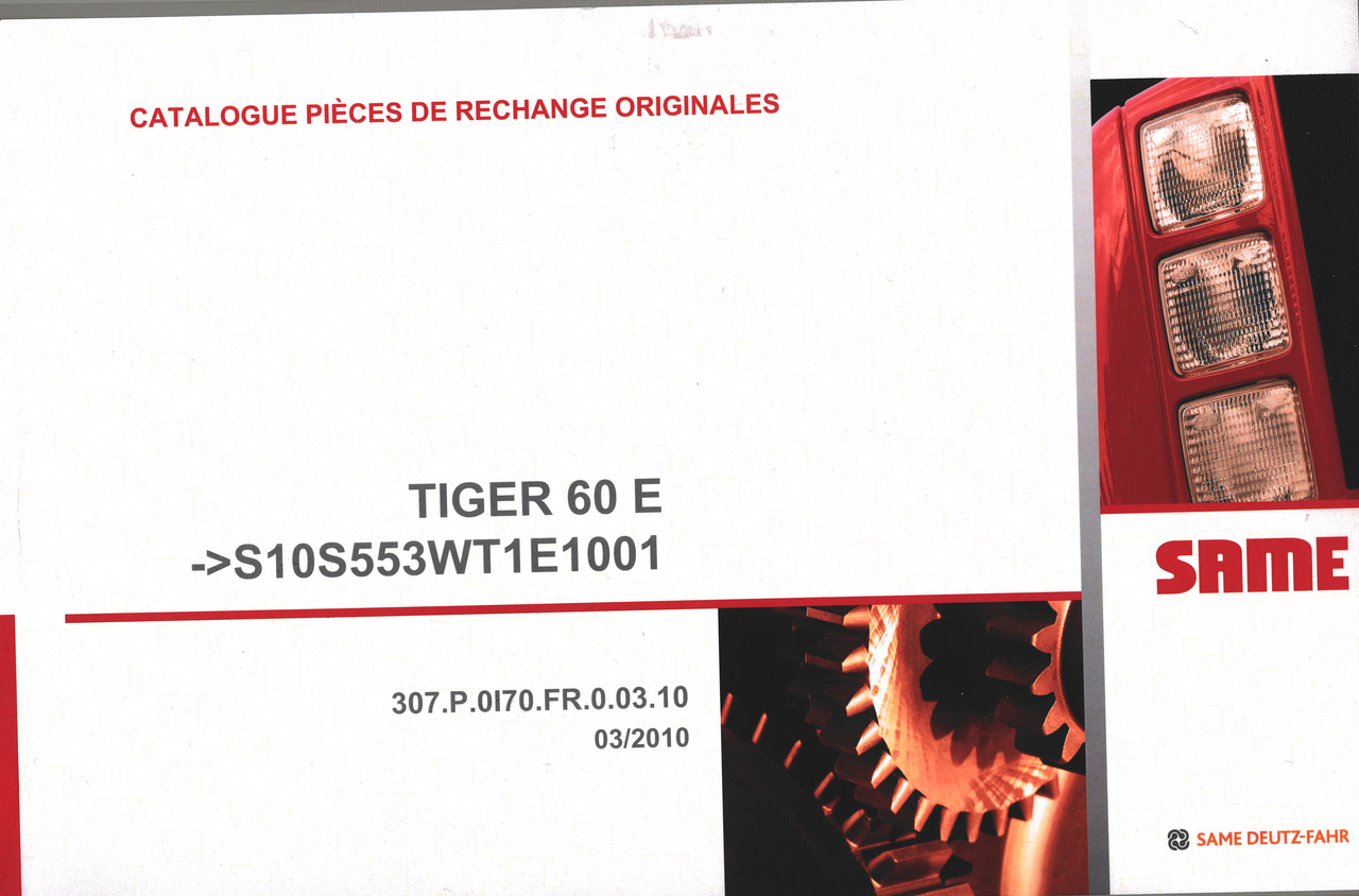 TIGER 60 E ->S10S553WT1E1001 - Catalogue pièces de rechange originales