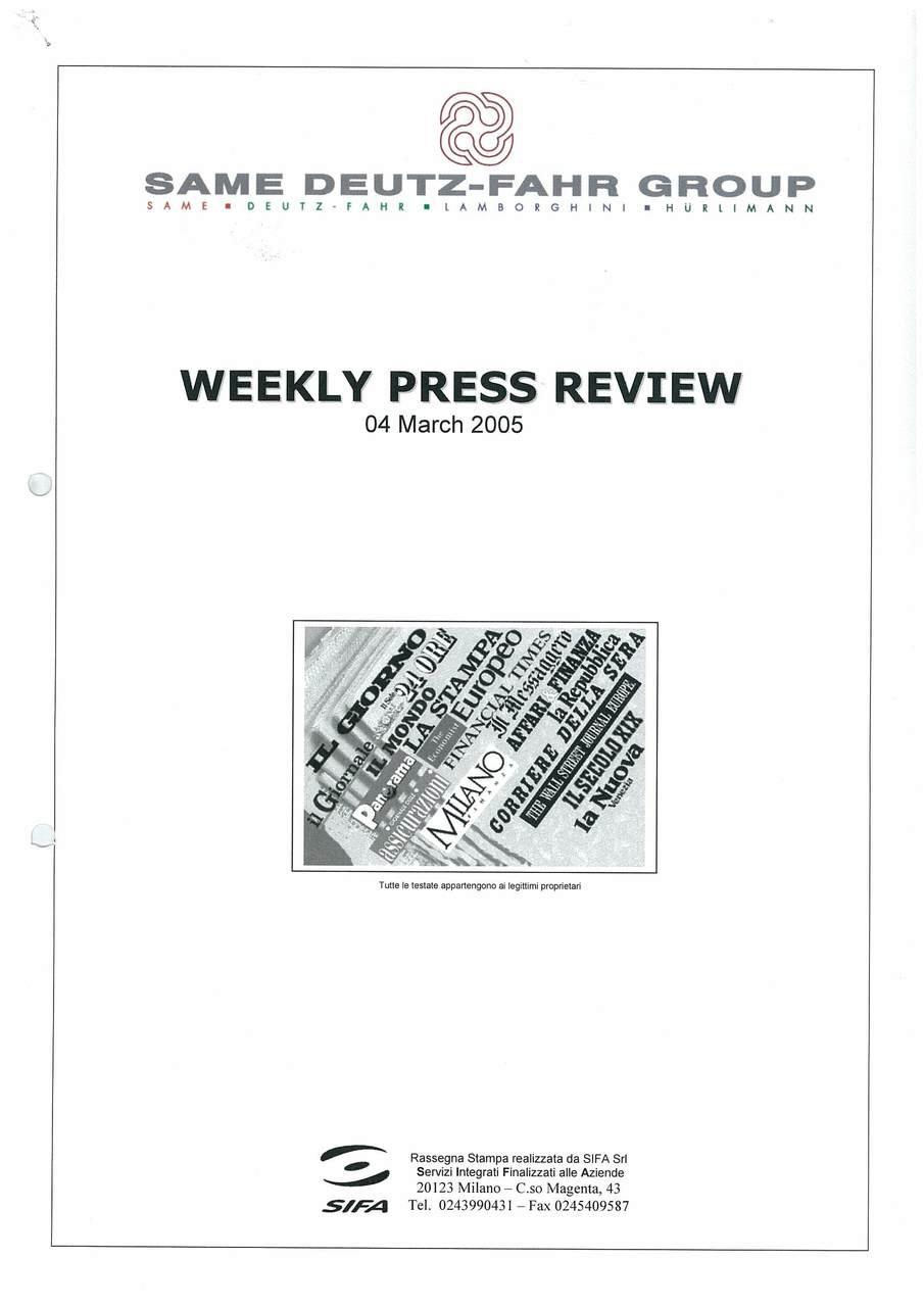 Rassegna stampa Marzo 2005