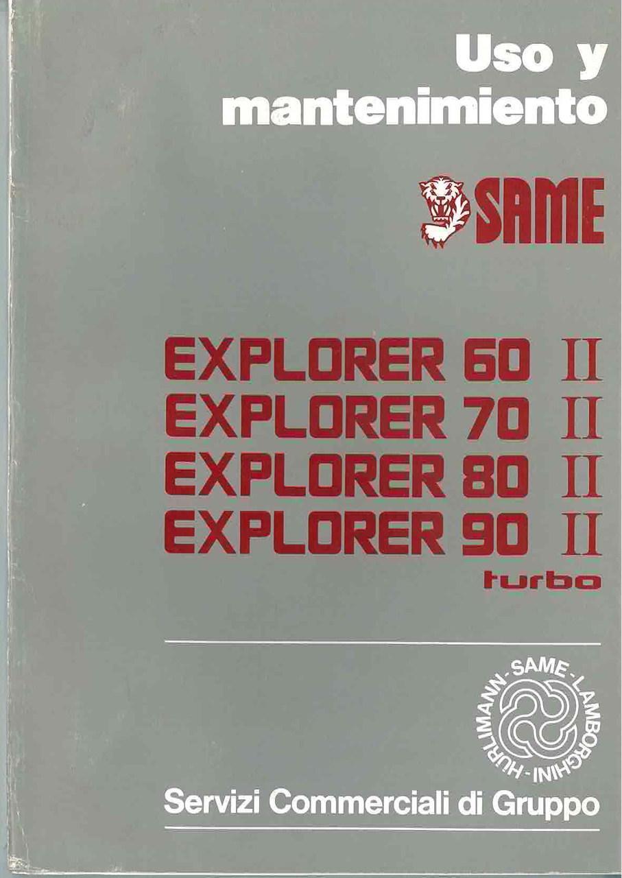 EXPLORER 60 II- 70 II-80 II-90 II TURBO - Uso y manutencion