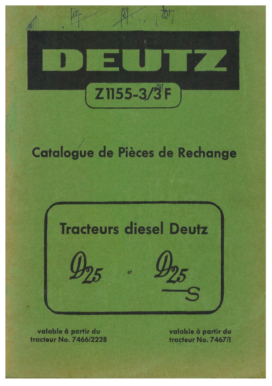 D 25-25 S - Catalogue de Pieces de Rechange
