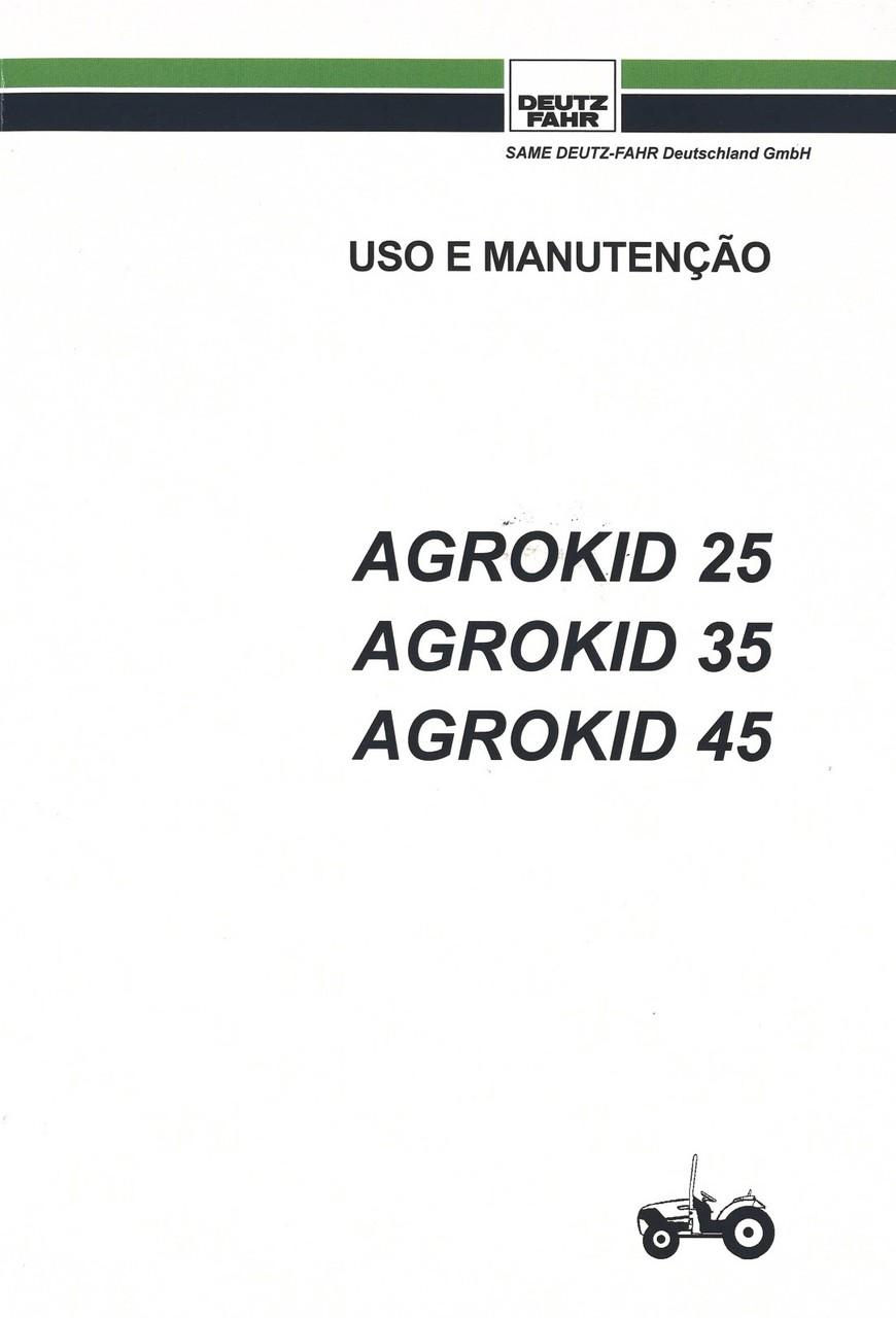 AGROKID 25 - AGROKID 35 - AGROKID 45 - Uso e manutenção