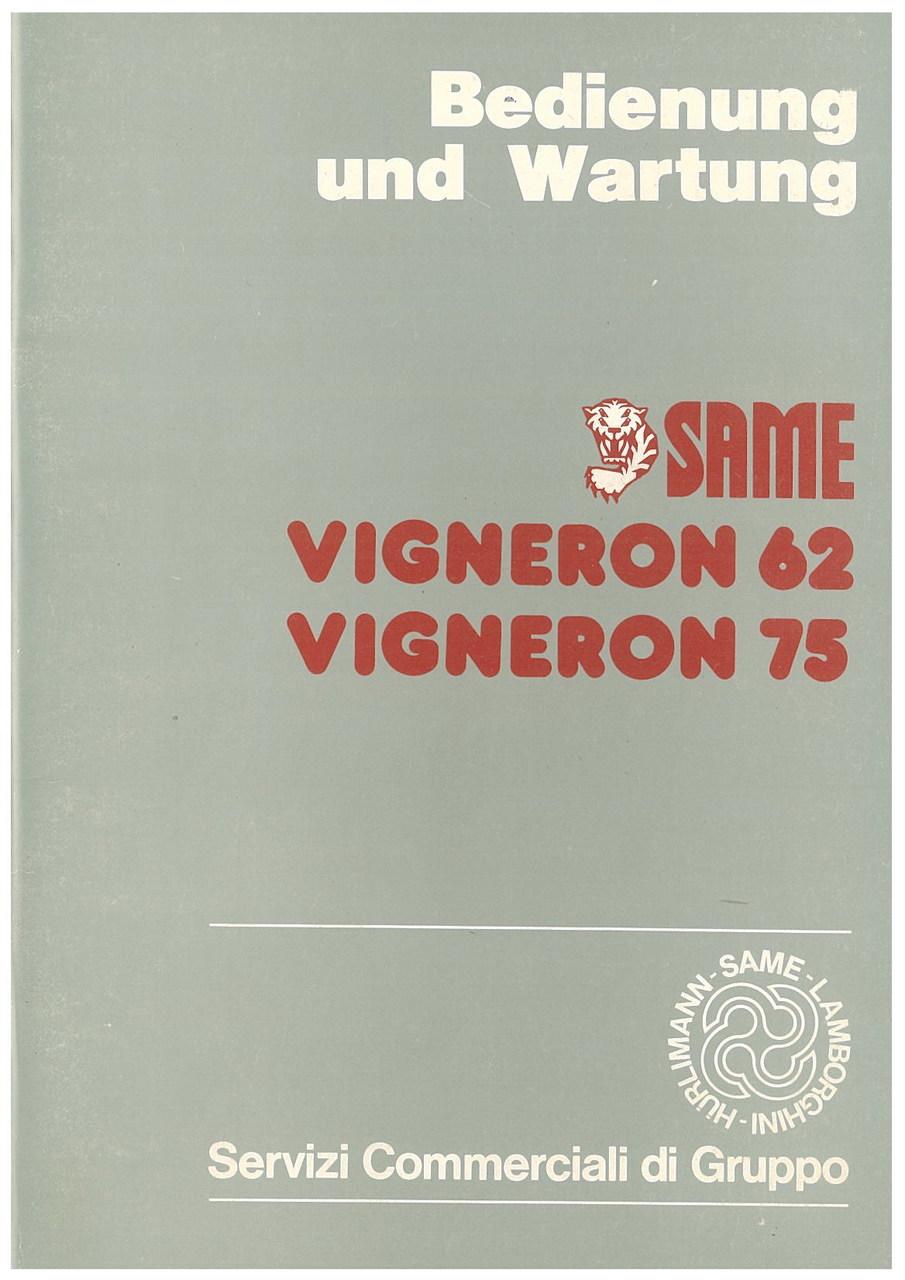 VIGNERON 62 - VIGNERON 75 - Bedienung und wartung