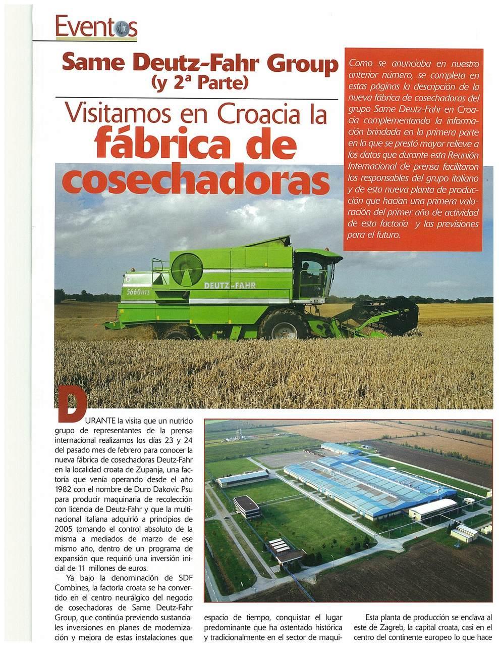 Visitamos en Croacia la fabrica de cosechadoras (2a parte)