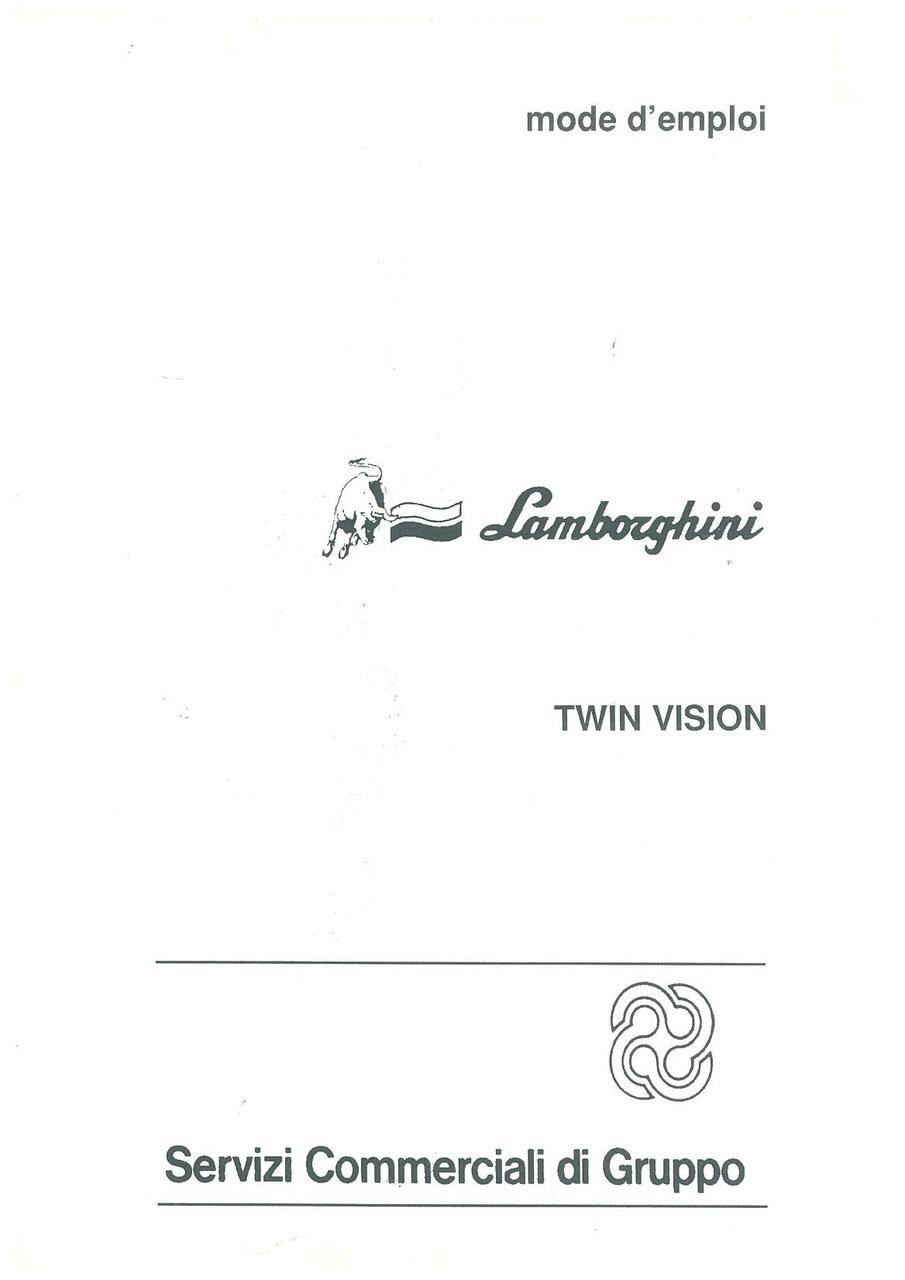 TWIN VISION - Utilisation et Entretien
