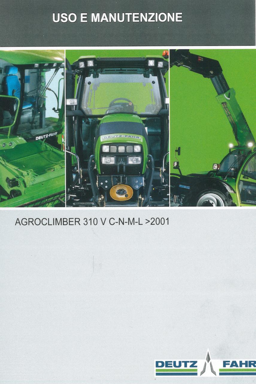 AGROCLIMBER 310 V C-N-M-L-> 2001 - Uso e manutenzione