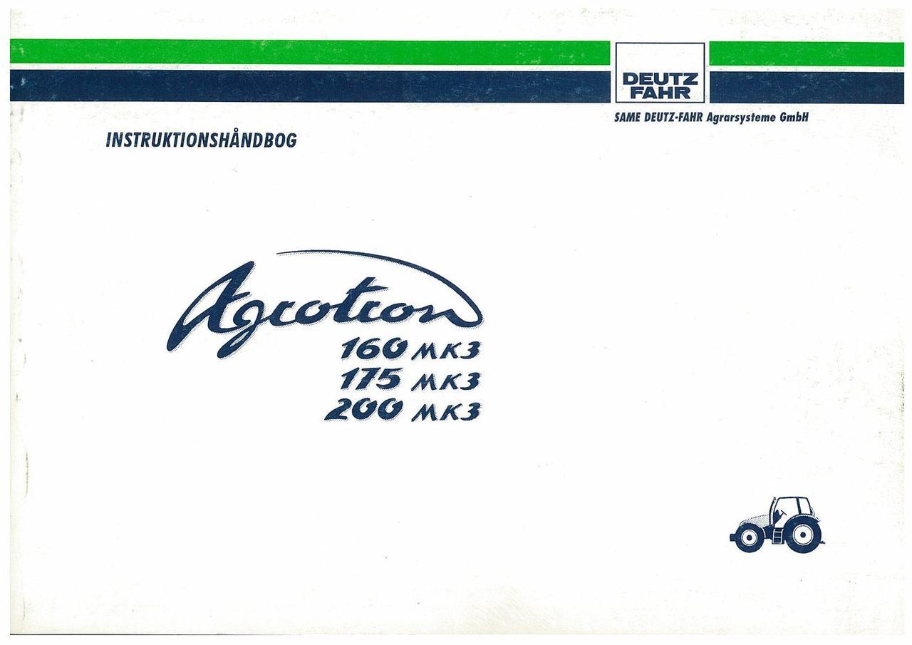 AGROTRON MK3 160-175-200 - Bruger-og vedligeholdelsesvejledning