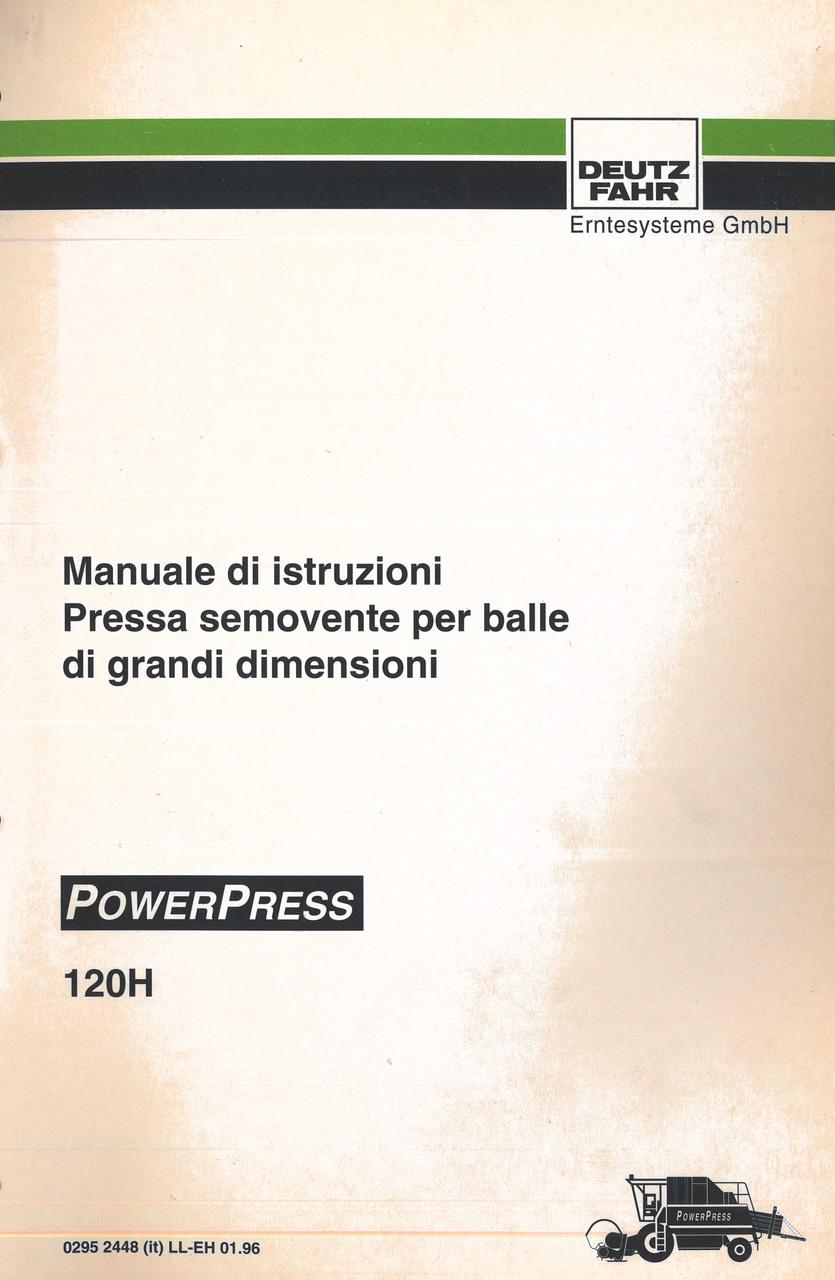 POWERPRESS 120 H - Manuale di istruzione