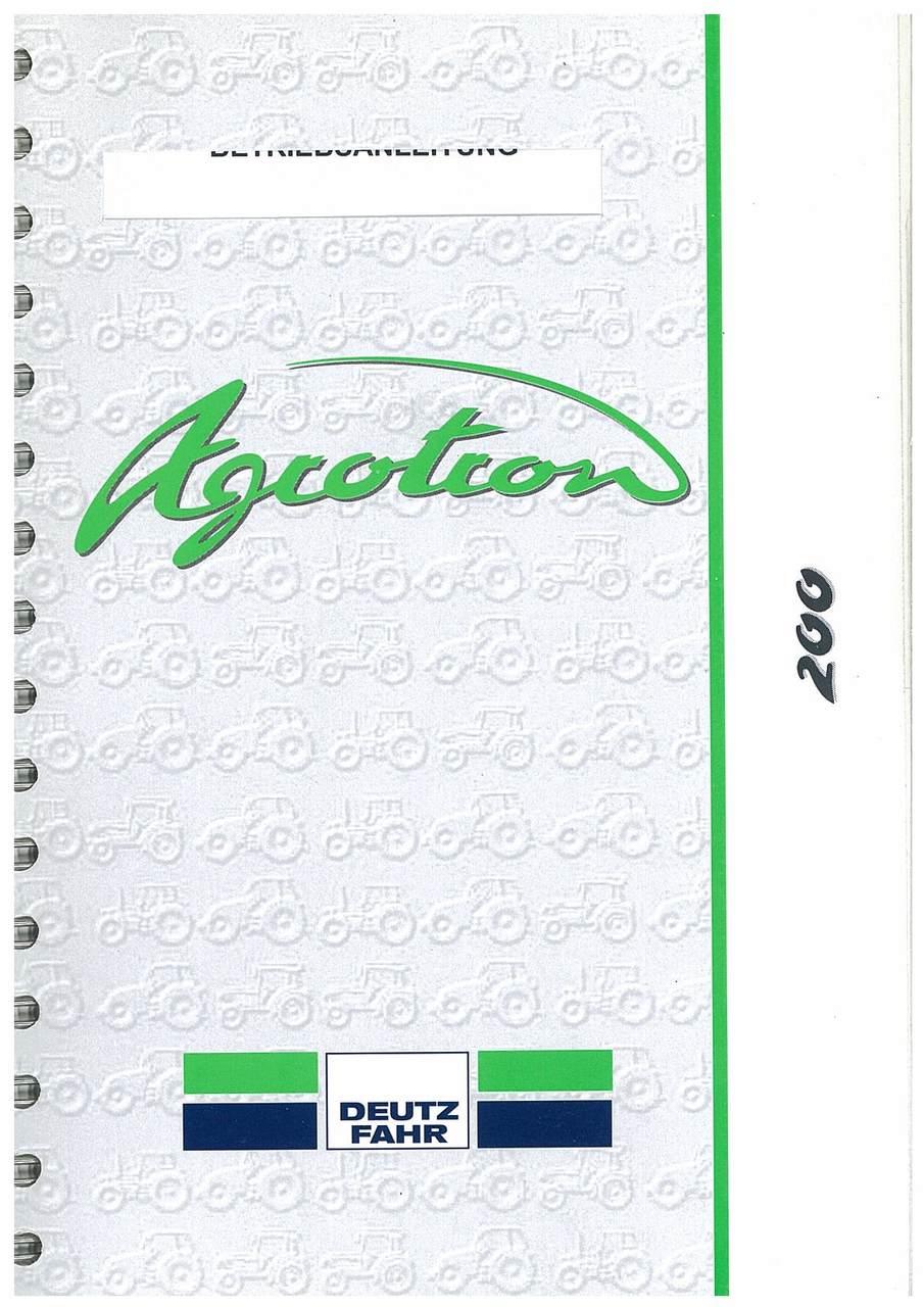 AGROTRON 200 - Betriebsanleitung