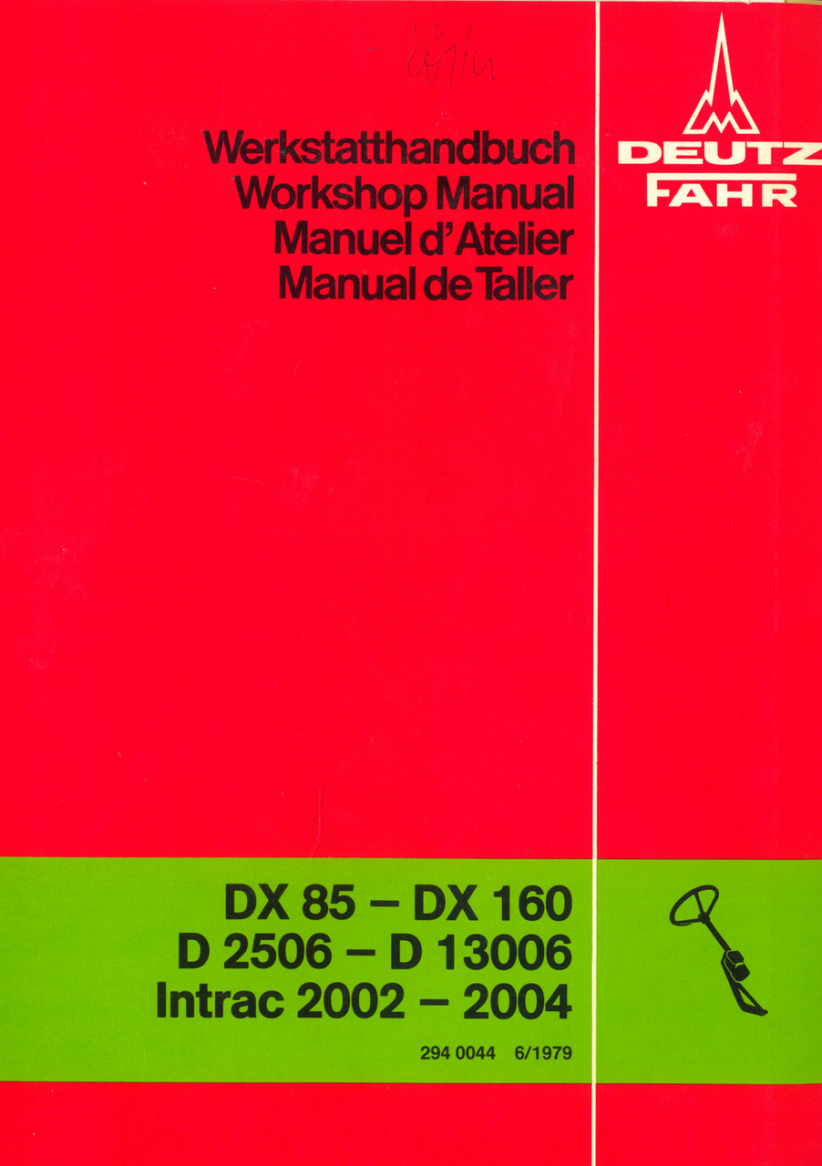 DX 85 - DX 160 - D 25 06 - D 130 06 - INTRAC 2002 - INTRAC 2004 - Lenkung / Steering system / Direction / Direccion - Werkstatthandbuch / Workshop manual / Manuel d'atelier / Manual de taller
