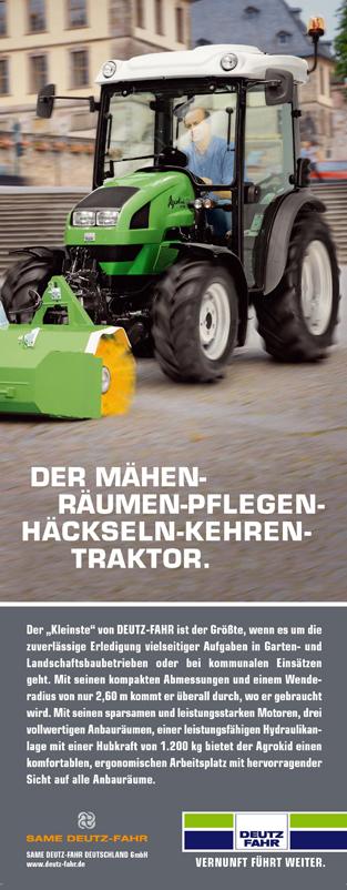 DER MAHEN-RAUMEN-PFLEGEN-HACKSELN-KEHREN-TRAKTOR
