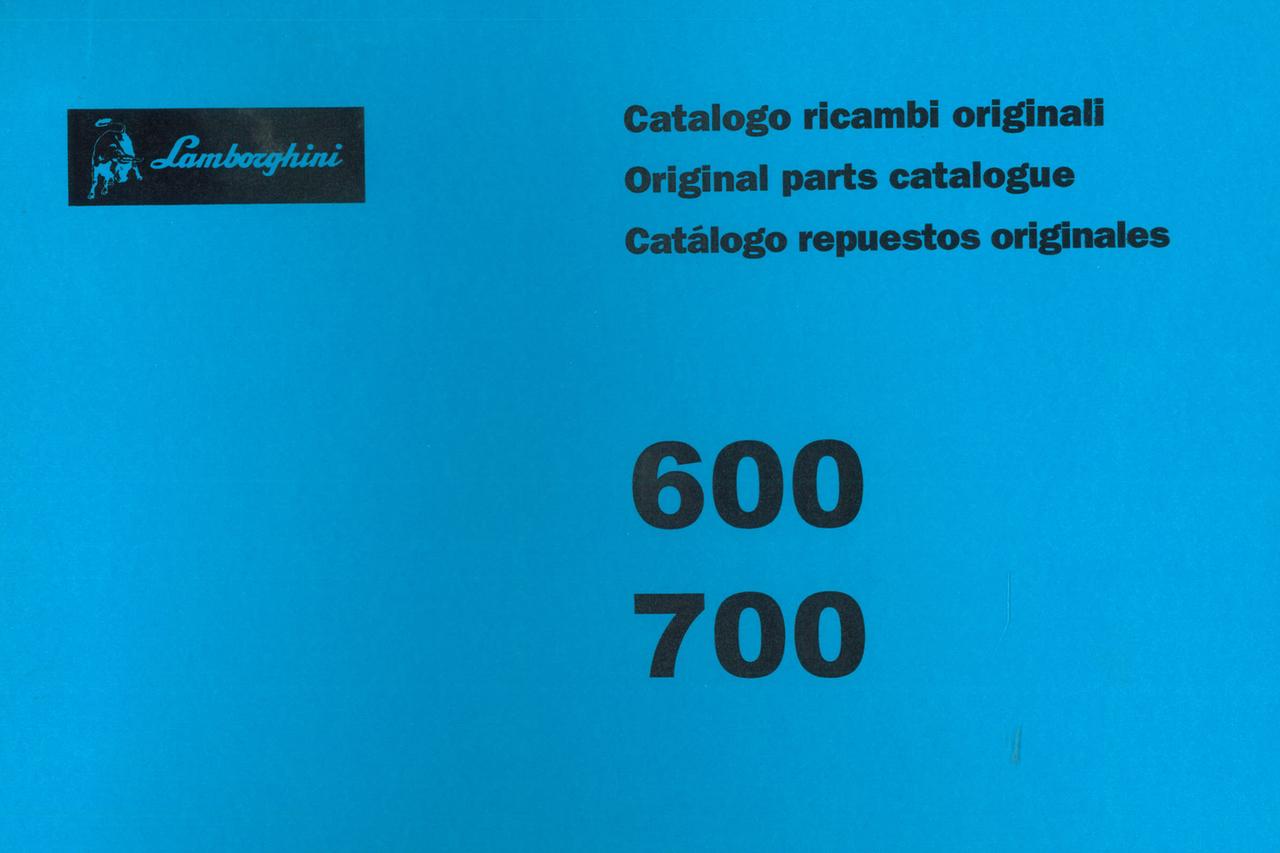 600 - 700 - Catalogo ricambi originali / Original parts catalogue / Catalogo repuestos originales