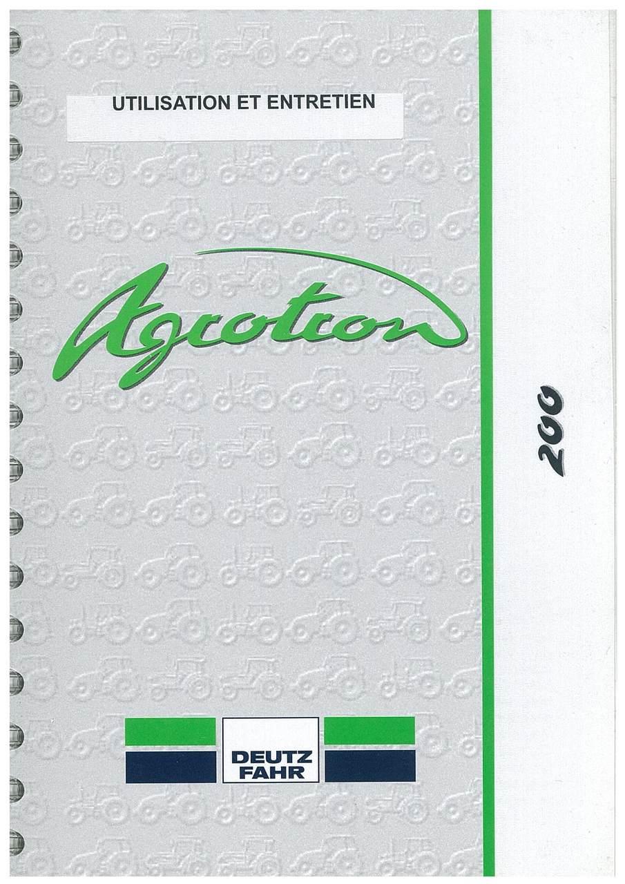 AGROTRON 200 - Utilisation et entretien