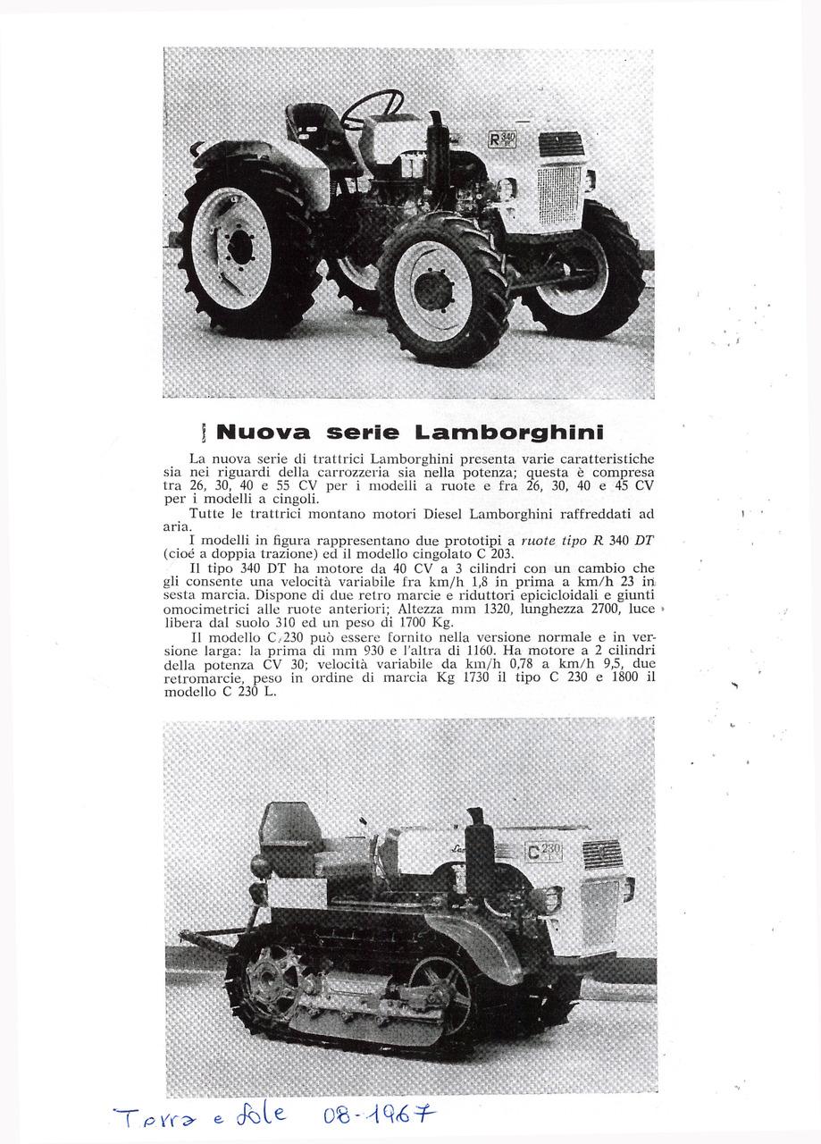Nuova serie Lamborghini