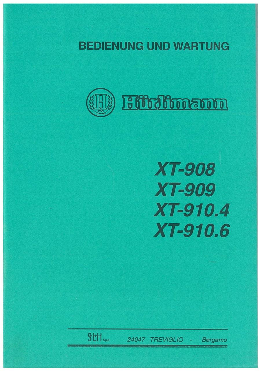 XT 908 - XT 909 - XT 910.4 - XT 910.6 - Bedienung und Wartung