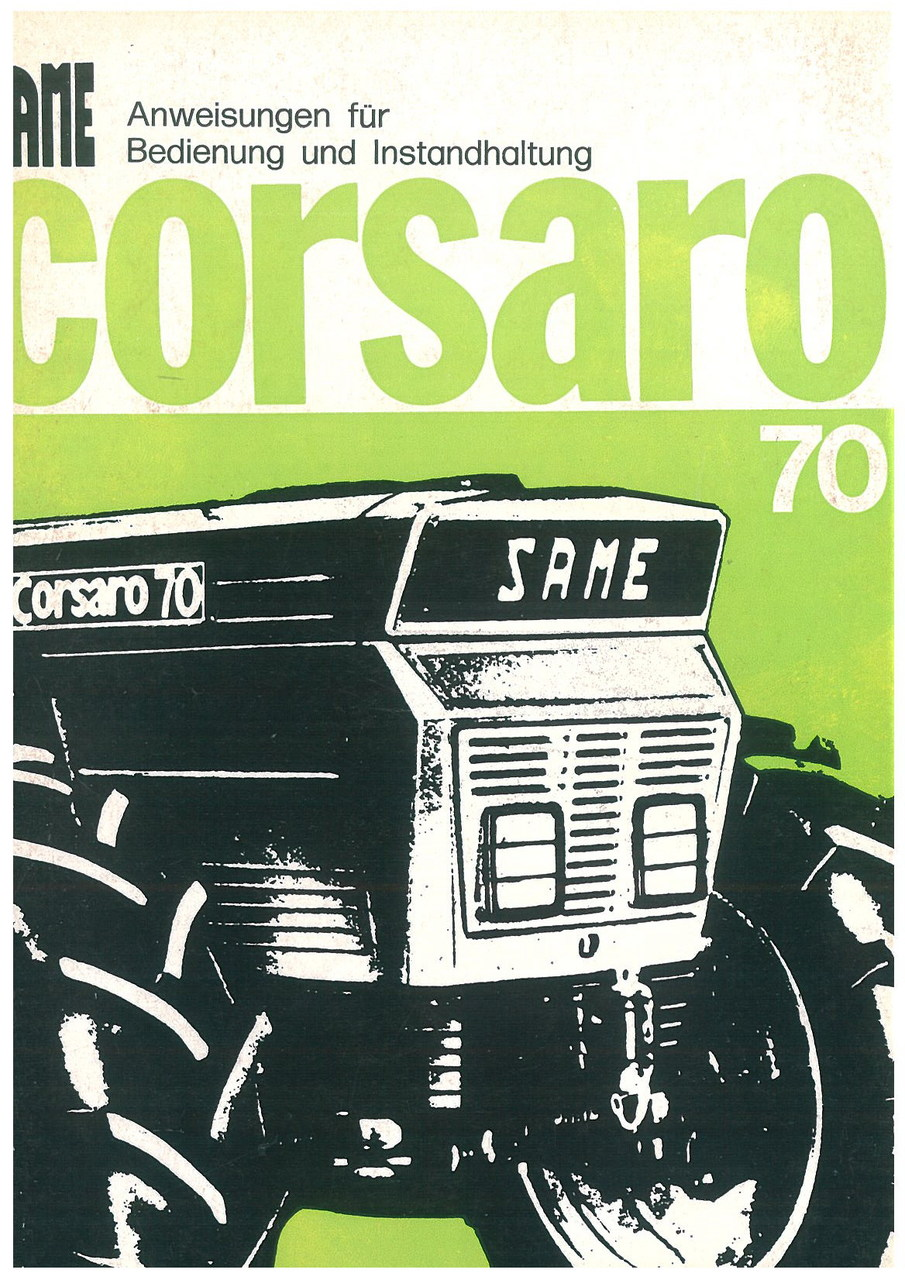 CORSARO 70 - Bedienung und wartung