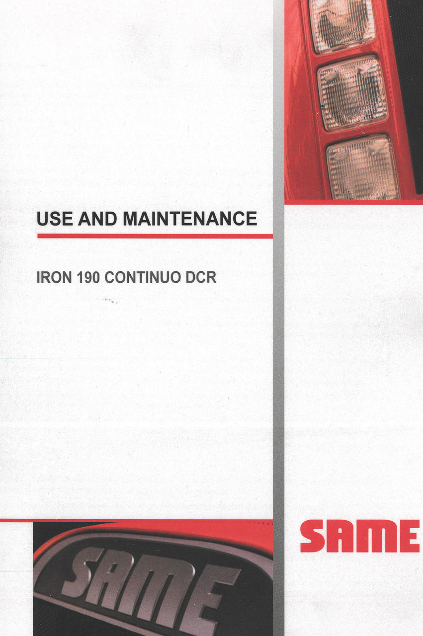 IRON 190 CONTINUO DCR - Use and maintenance