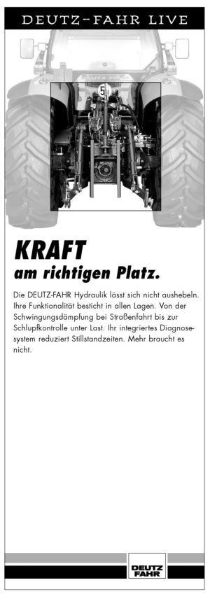 DEUTZ-FAHR LIVE, Kraft am richtigen Platz.