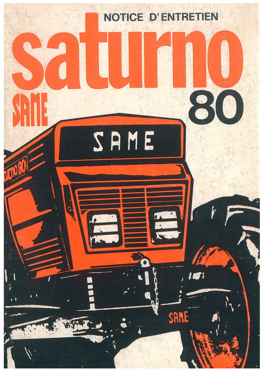 SATURNO 80 - Utilisation et entretien