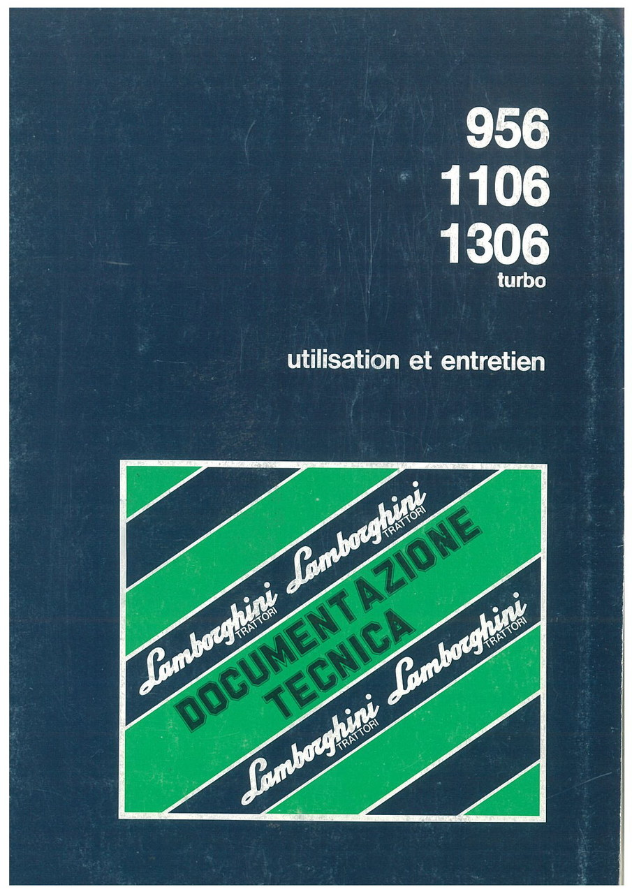956 - 1106 - 1306 TURBO - Utilisation et Entretien