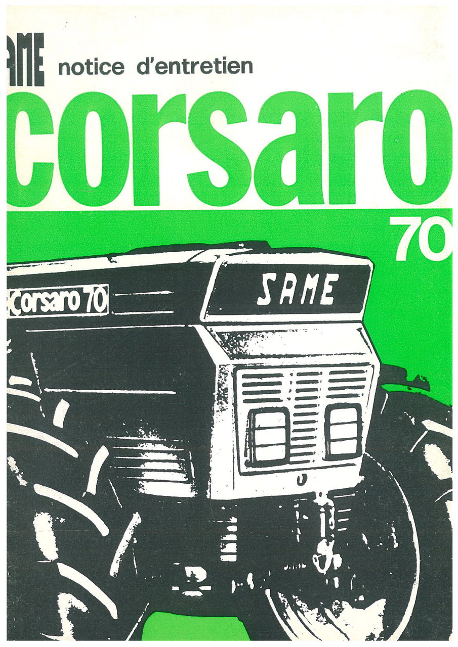 CORSARO 70 - Utilisation et entretien