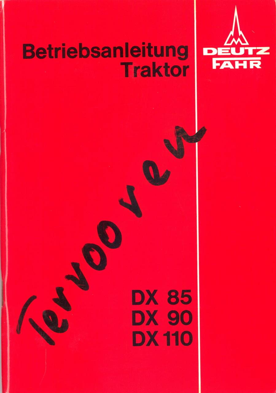 DX 85 - 90 - 110 - Betriebsanleitung