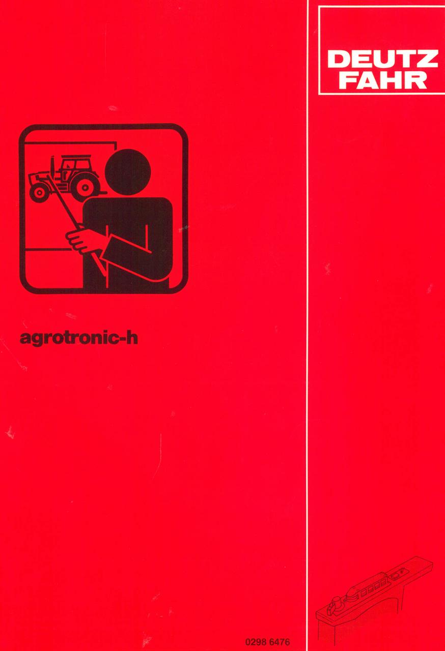 AGROTRONIC-h - Werkstatthandbuch
