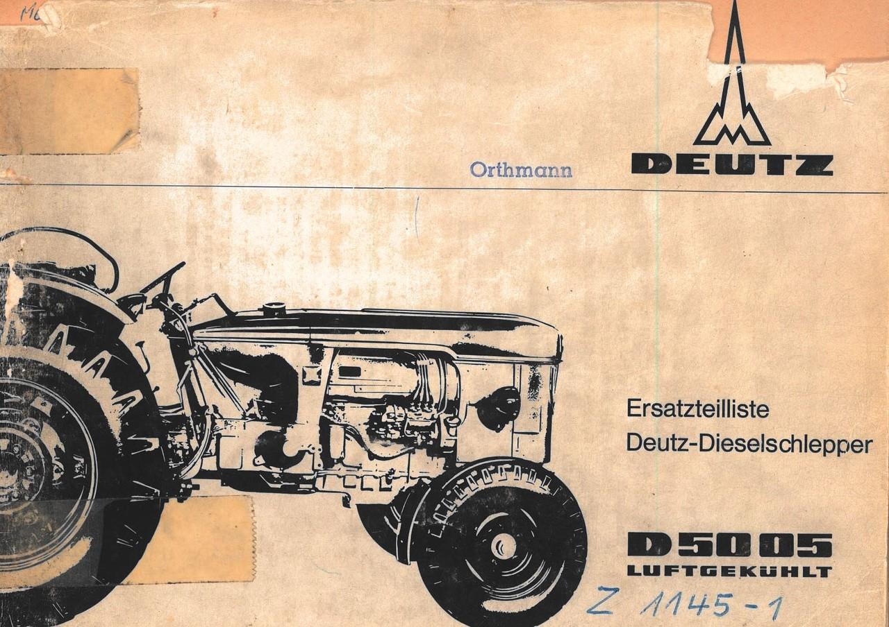 D 5005 - Ersatzteilliste