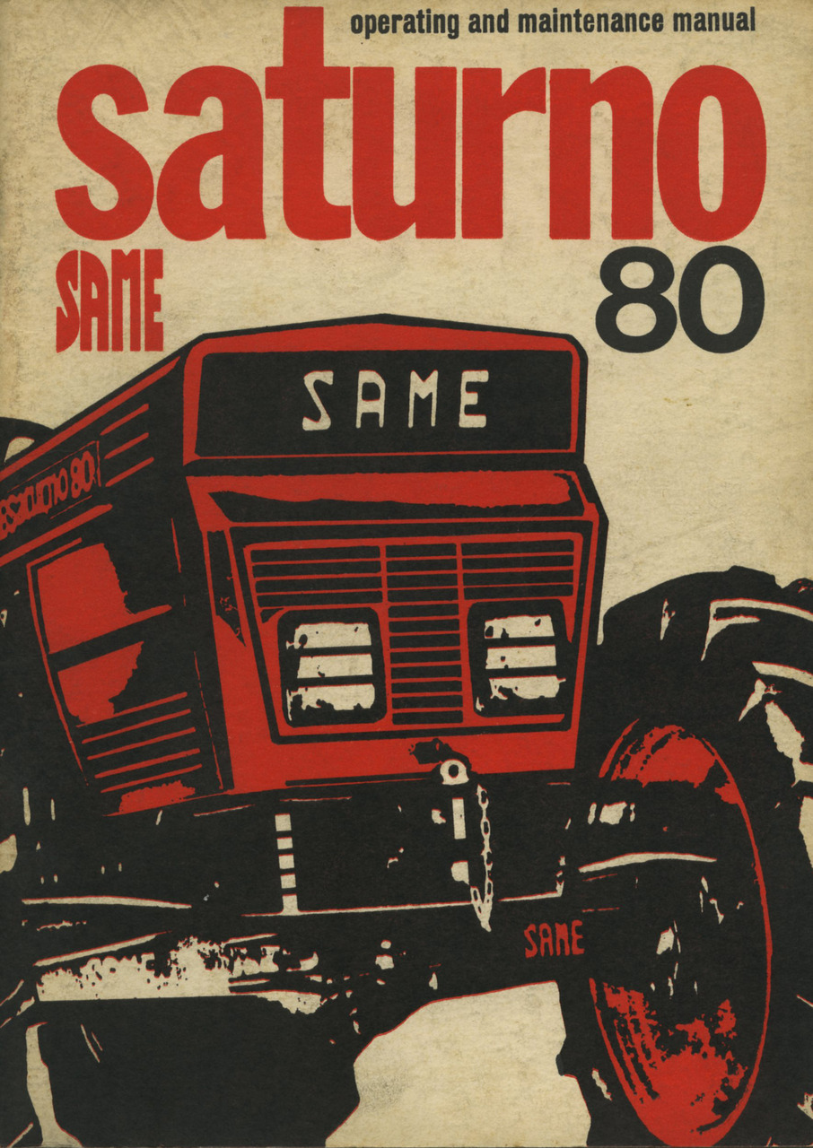 SATURNO 80 - Operating and maintenance