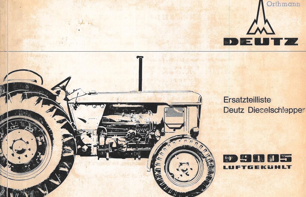 D 9005 - Ersatzteilliste