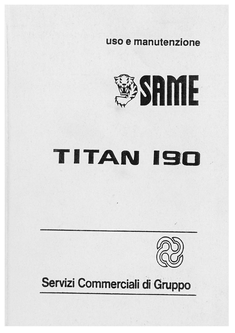 TITAN 190 - Libretto di uso e manutenzione