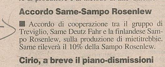 Accordo SAME-Sampo Rosenlew