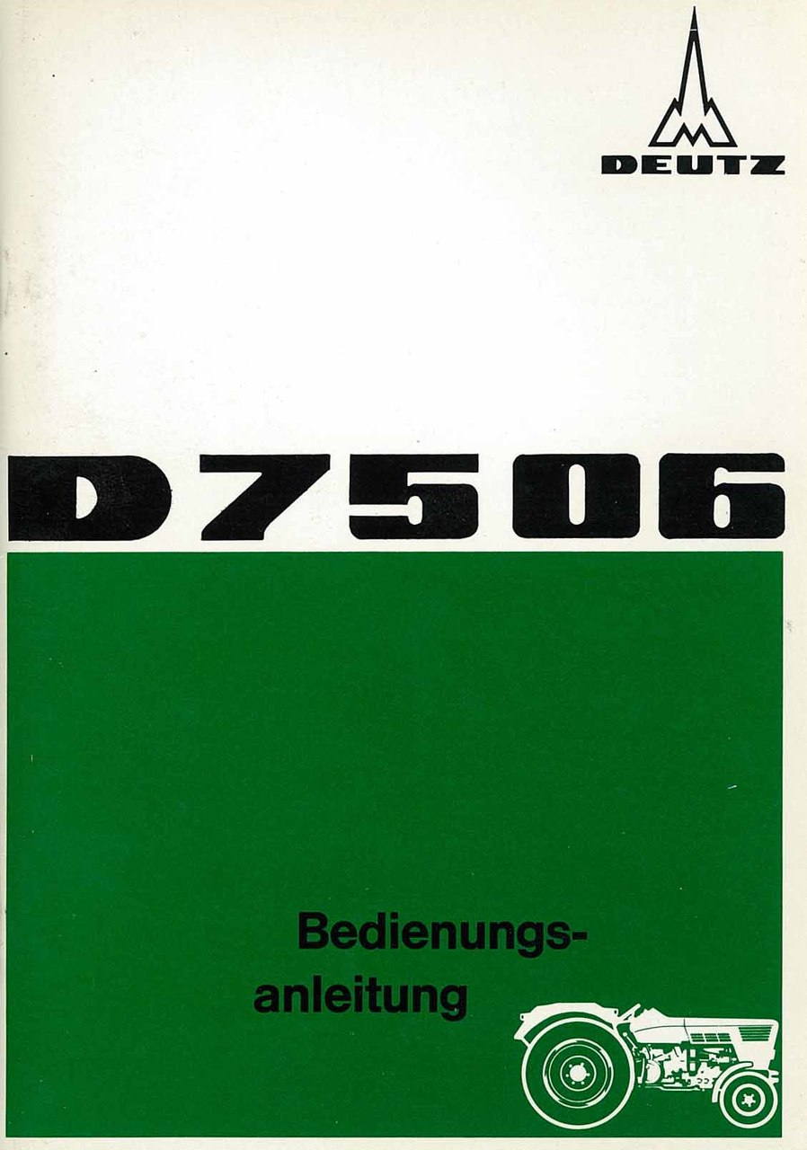 D 75 06 - Bedienungsanleitung