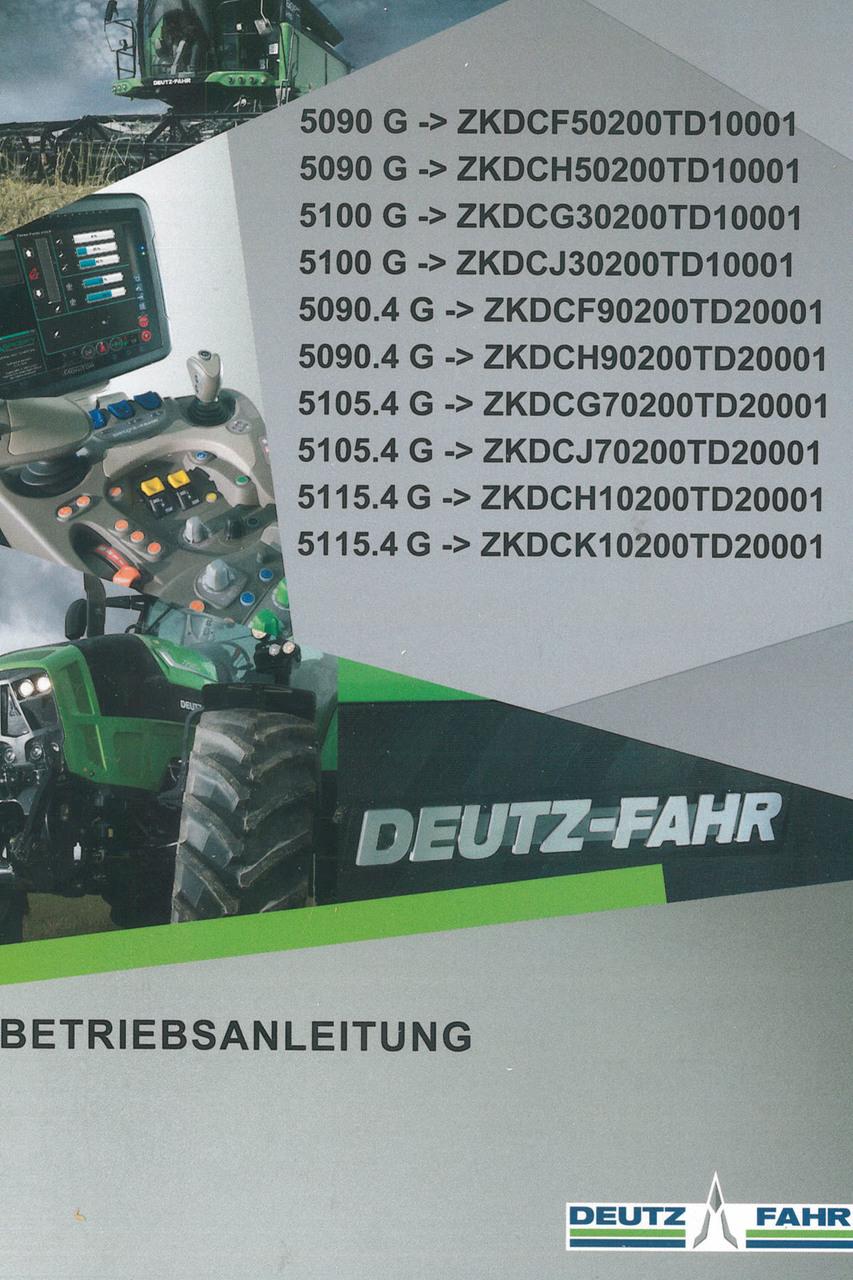 5090 G ->ZKDCF50200TD10001 - 5090 G ->ZKDCH50200TD10001 - 5100 G ->ZKDCG30200TD10001 - 5100 G ->ZKDCJ30200TD10001 - 5090.4 G ->ZKDCF90200TD20001 - 5090.4 G ->ZKDCH90200TD20001 - 5105.4 G ->ZKDCG70200TD20001 - 5105.4 G ->ZKDCJ70200TD20001 - 5115.4 G ->ZKDCH10200TD20001 - 5115.4 G ->ZKDCK10200TD20001 - Betriebsanleitung