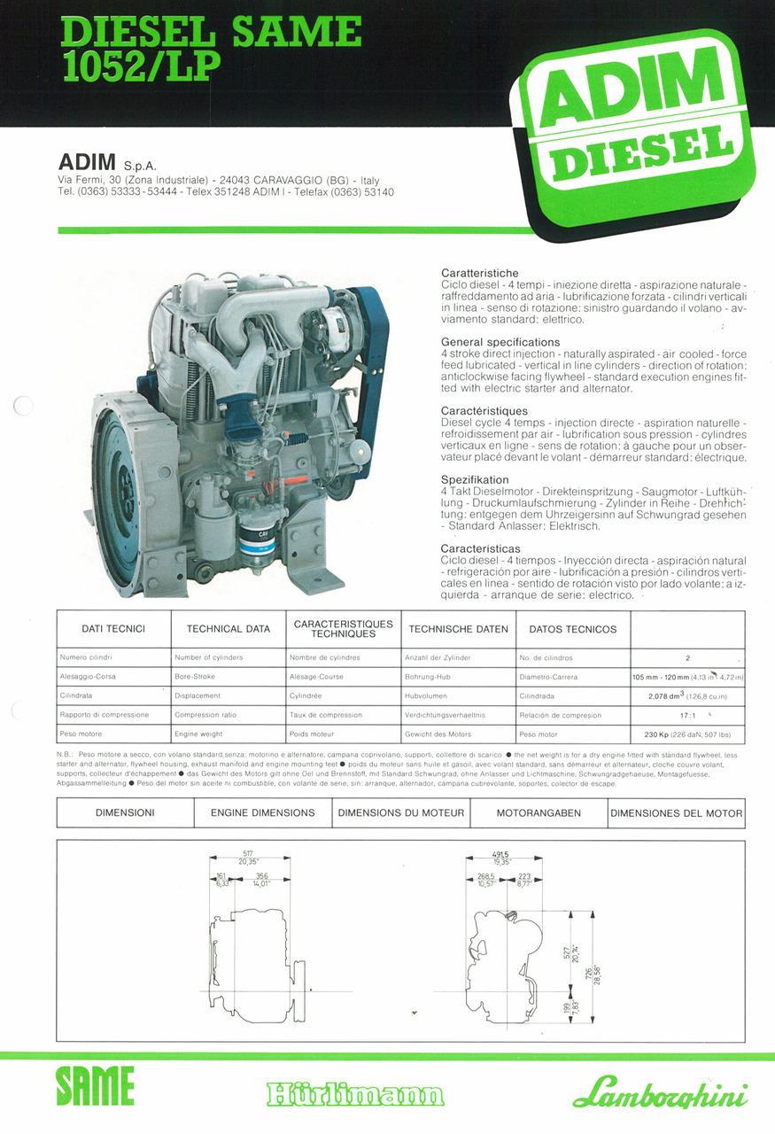 Motore 1052/LP