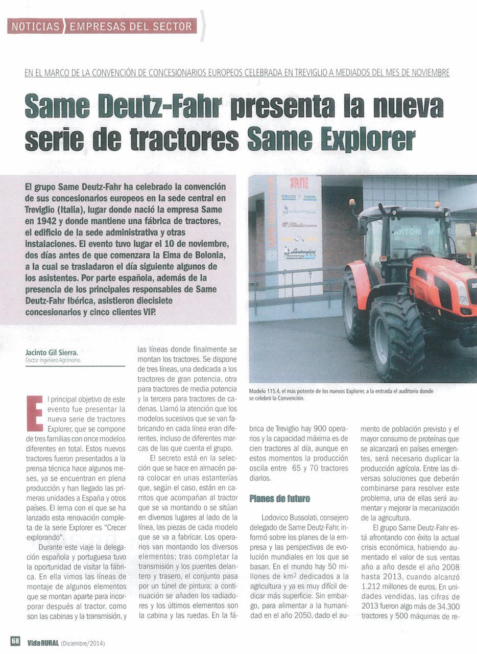 Same Deutz-Fahr presenta la nueva serie de tractores Same Explorer
