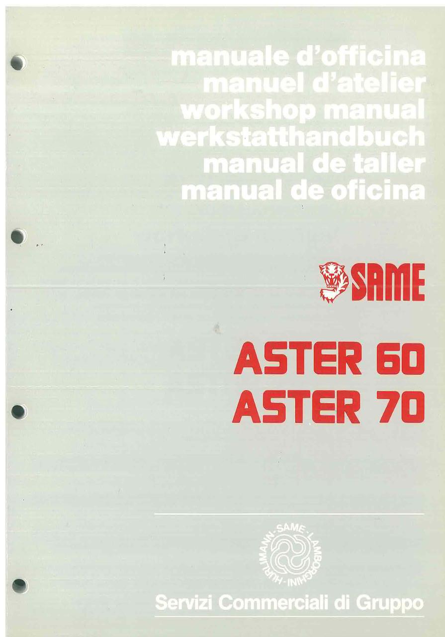 ASTER 60 - 70 - Workshop manual