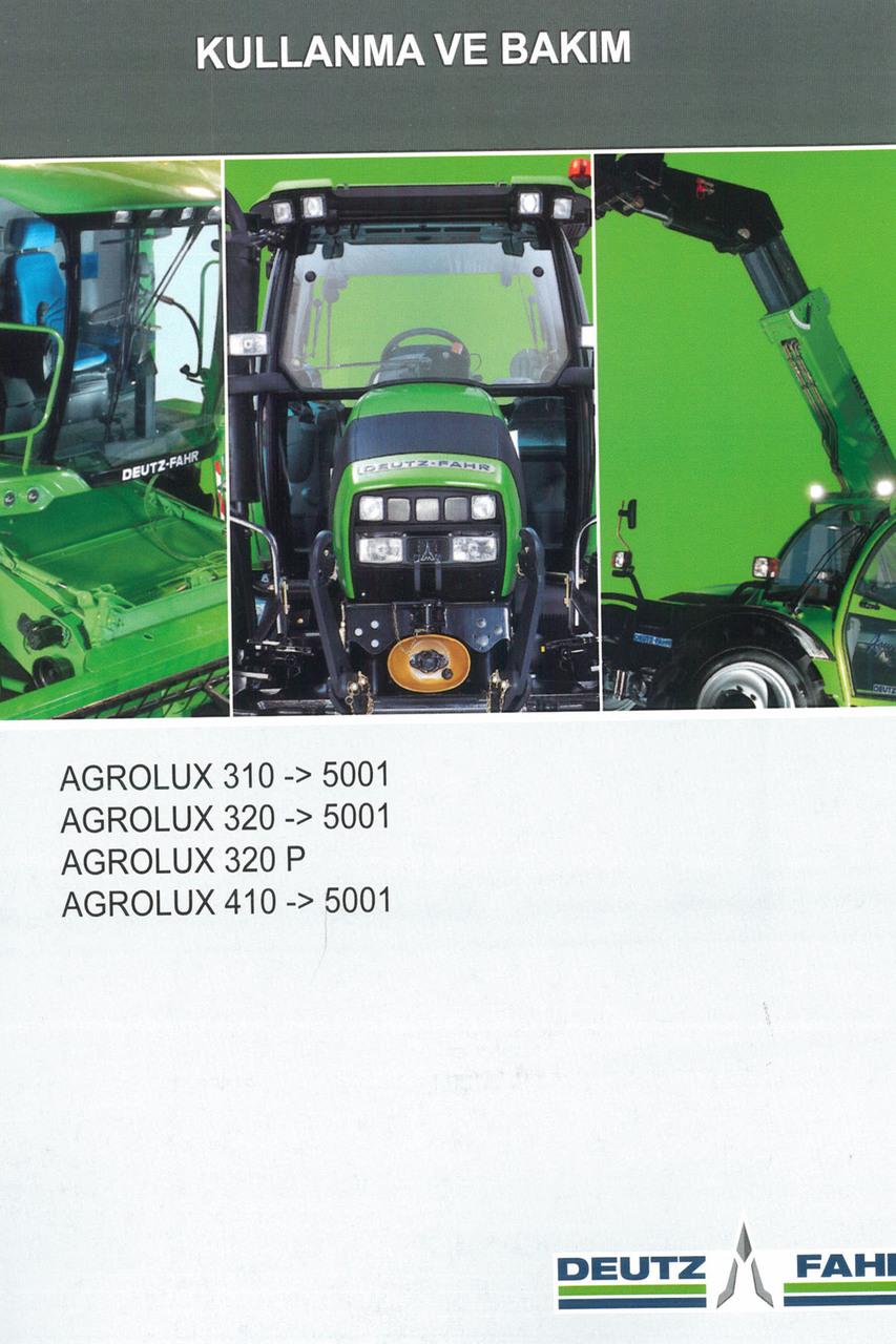 AGROLUX 310 ->5001 - AGROLUX 320 ->5001 - AGROLUX 320 P - AGROLUX 410 ->5001 - Kullanma ve bakim