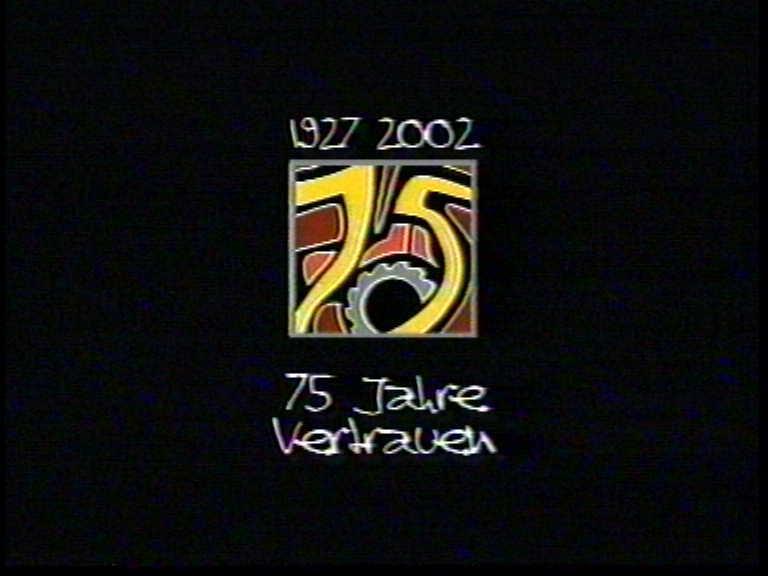 1927 2002 - 75 Jahre Vertrauen