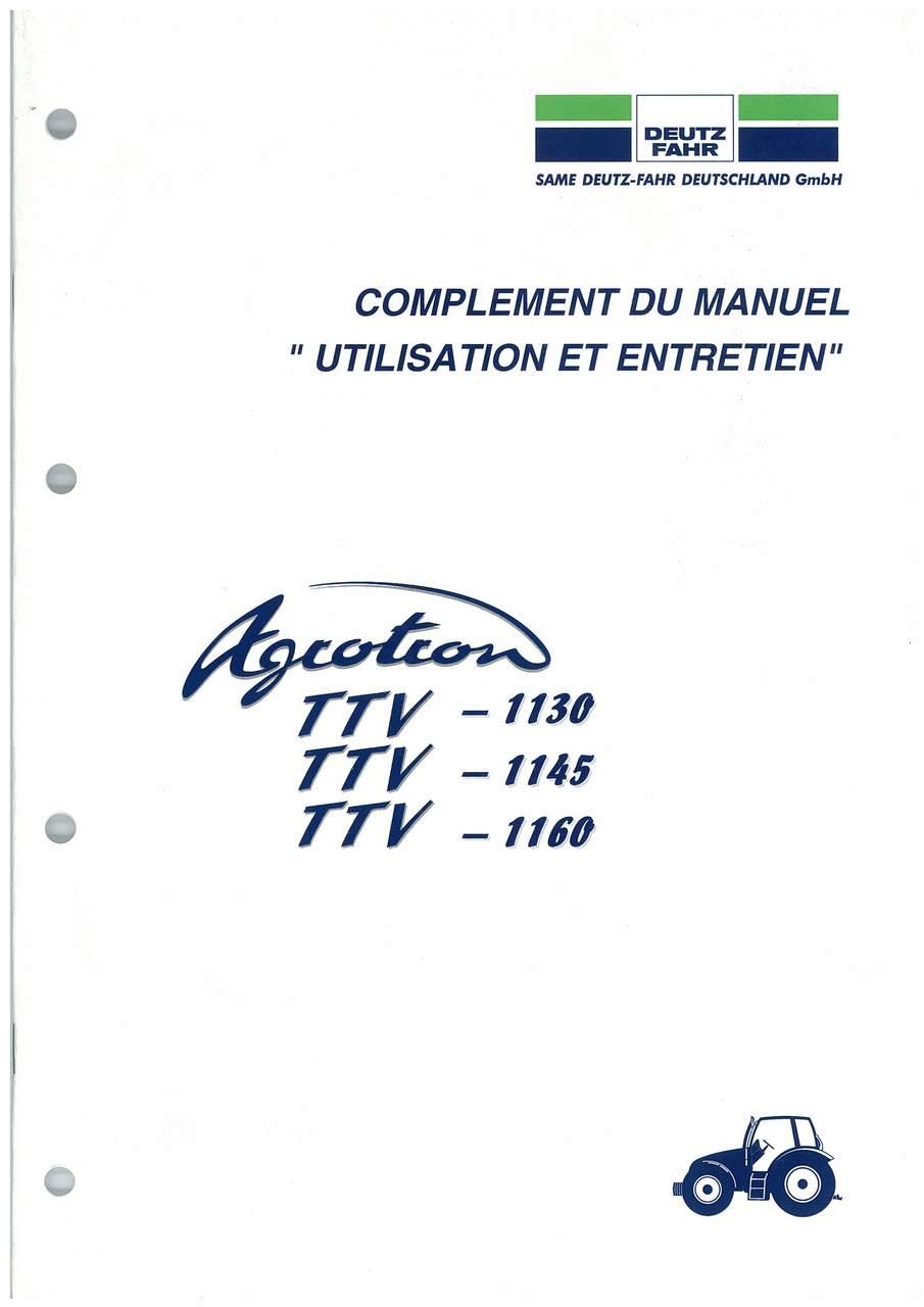AGROTRON TTV 1130-1145-1160 - Utilisation et Entretien
