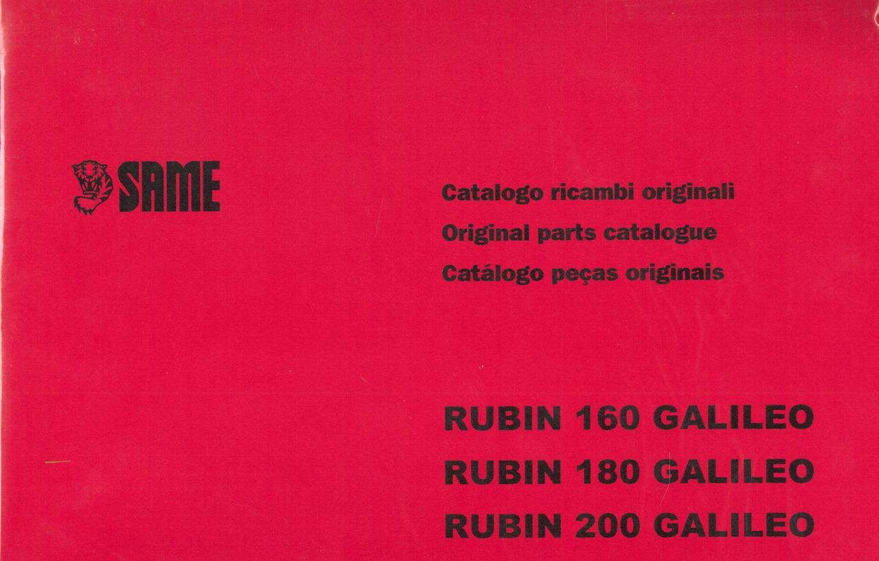 RUBIN 160-180-200 GALILEO - Catalogo ricambi originali / Original parts catalogue / Catálogo peças originais