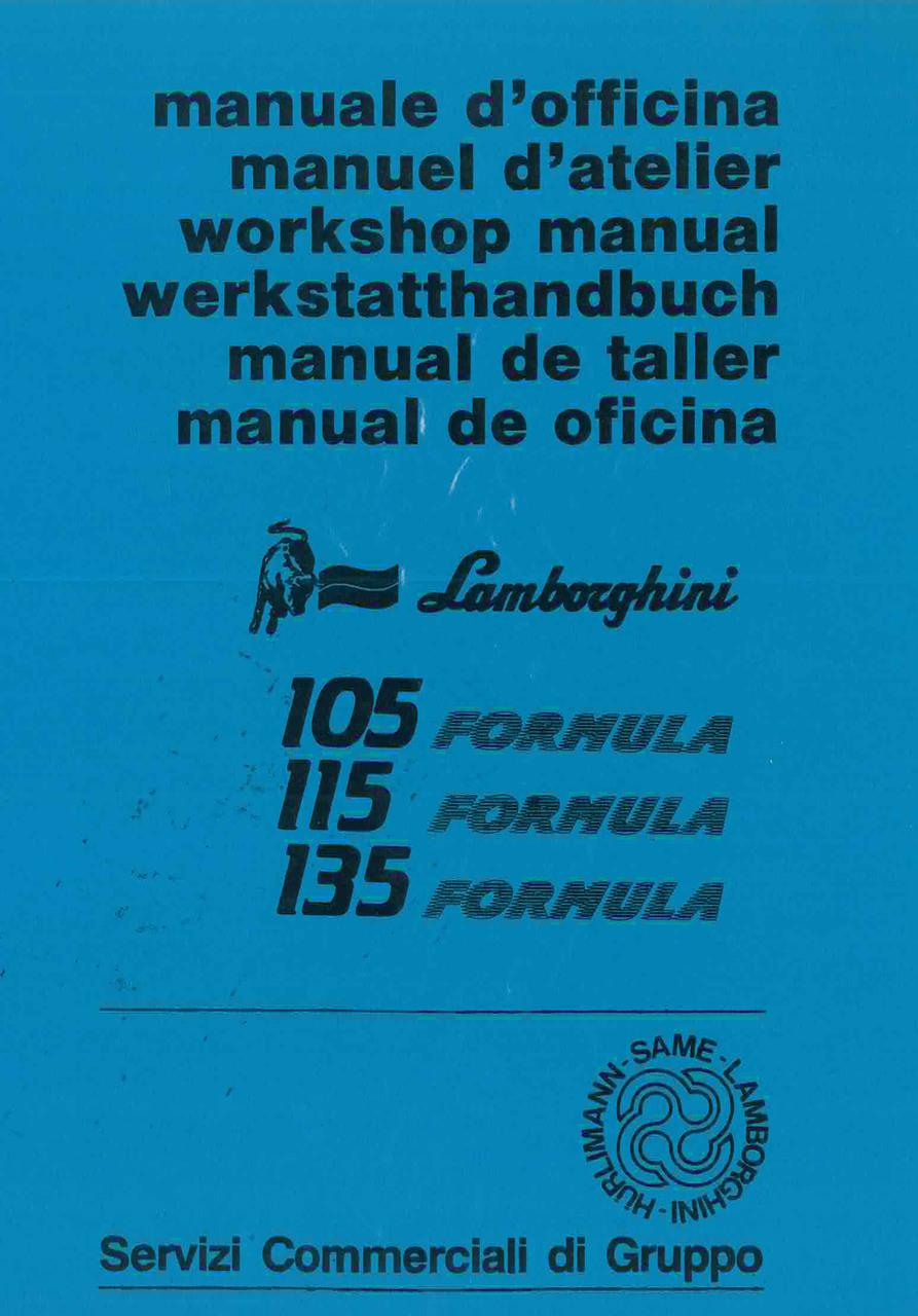 105 - 115 - 135 FORMULA - Manuel d'Atelier