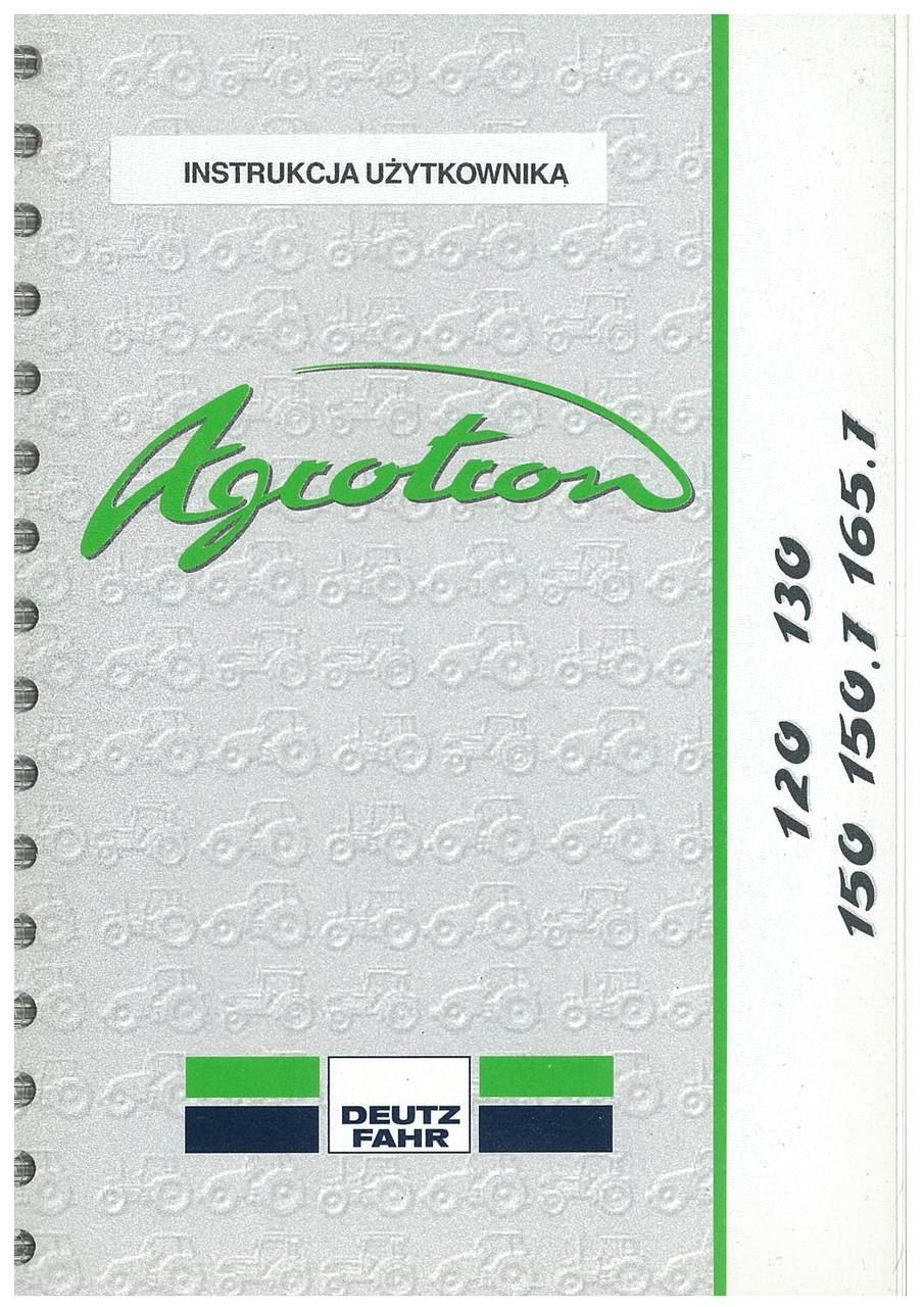 AGROTRON 120-130-150-150.7-165.7 - Instrukcja Uzytkownika
